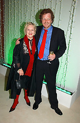 CELIA BIRTWELL and ANDREW PALMER at an exhibition of David Hockney portraits at the National Portrait Gallery sponsored by Burberry on 11th October 2006.<br /><br />NON EXCLUSIVE - WORLD RIGHTS
