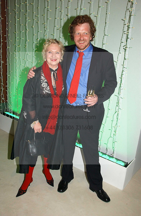 CELIA BIRTWELL and ANDREW PALMER at an exhibition of David Hockney portraits at the National Portrait Gallery sponsored by Burberry on 11th October 2006.<br />