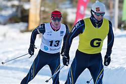 POLUKHIN Nikolay Guide: TOKAREV Andrey, RUS, Biathlon Pursuit, 2015 IPC Nordic and Biathlon World Cup Finals, Surnadal, Norway