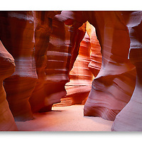 Entrance to Upper Antelope Canyon near Page, Arizona.