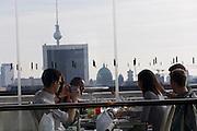 Berlin, Germany. Reichstag. Käfer Dachgarten-Restaurant.