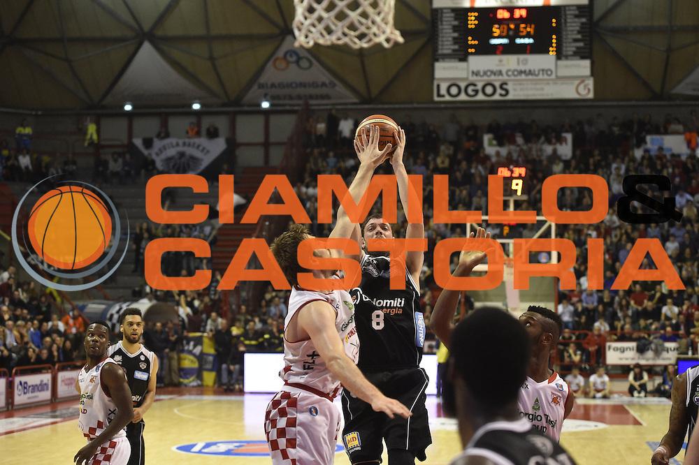 Pistoia  31 Gennaio 2014<br /> Basket campionato serie A1 2015/2016<br /> Giorgio Tesi Group Pistoia-Dolomiti Energia Trento<br /> Nella Foto Filippo Baldi Rossi Dolomiti Energia Trento<br /> Foto Ciamillo