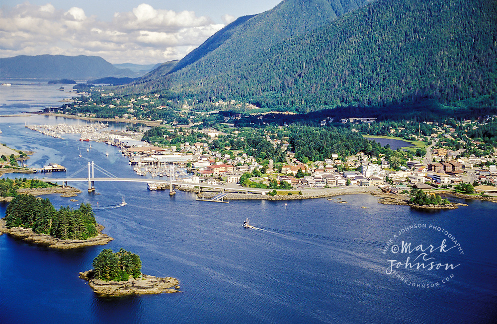 Sitka, Alaska from the air