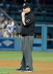June 22, 2017 - Los Angeles, California, U.S. - Umpire Todd Tichenor during a Major League baseball game between the New York Mets and the Los Angeles Dodgers at Dodger Stadium on Wednesday, June 21, 2017 in Los Angeles. Los Angeles. (Photo by Keith Birmingham, Pasadena Star-News/SCNG) (Credit Image: © San Gabriel Valley Tribune via ZUMA Wire)