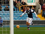 Millwall FC Forward Lee Gregory finds himself with an open goal during the Sky Bet League 1 match between Millwall and Colchester United at The Den, London, England on 21 November 2015. Photo by Andy Walter.