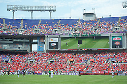 BALTIMORE, MD - Saturday, July 28, 2012: Liverpool supporters watch their side take on Tottenham Hotspur during a pre-season friendly match at the M&T Bank Stadium. (Pic by David Rawcliffe/Propaganda)