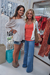 ALEXANDRA 'BINKY' FELSTEAD from TV's Made in Chelsea and NIKI TAYLOR at the opening of the new Melissa Odabash store in Walton Street, London SW3 on 7th July 2011.