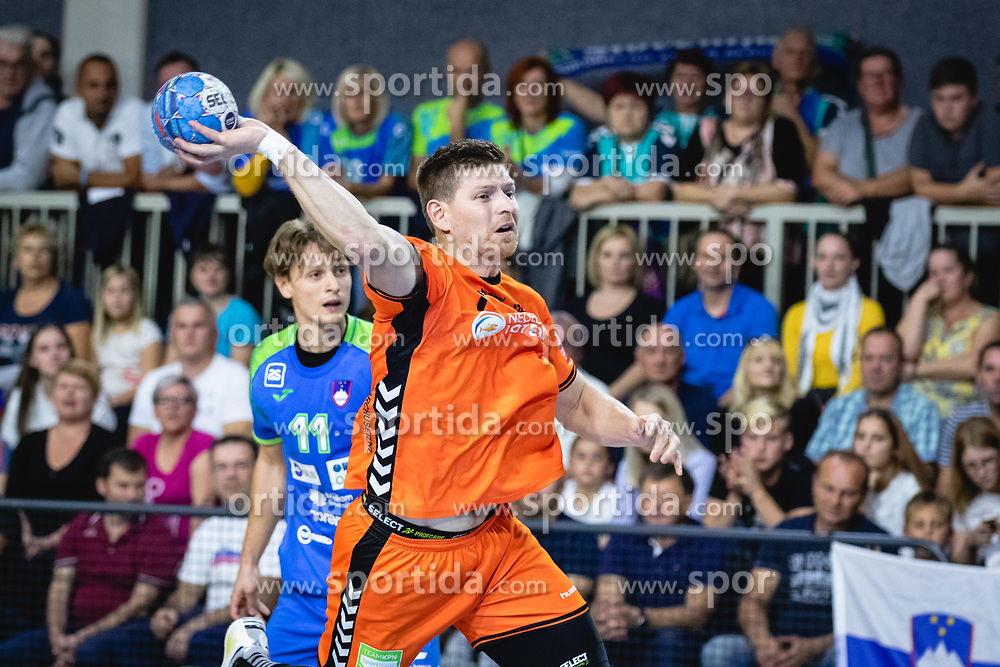 Toon Leenders of Nederland during friendly handball match between Slovenia and Nederland, on October 25, 2019 in Športna dvorana Hardek, Ormož, Slovenia. Photo by Blaž Weindorfer / Sportida
