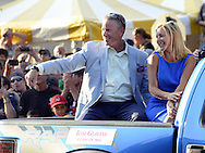 COOPERSTOWN, NY - JULY 26:  2014 Hall of Fame inductee Tom Glavine participates in the annual Parade of Legends down Main Street in Cooperstown, New York on July 26, 2014.