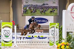 Dieu Marthe-Louize, BEL, Belle<br /> Nationaal Indoor Kampioenschap Pony's LRV <br /> Oud Heverlee 2019<br /> © Hippo Foto - Dirk Caremans<br /> 09/03/2019