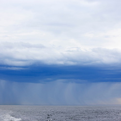 Rain falling on the Atlantic Ocean over Jeffrey's Ledge in the Gulf of Maine.  Of the New Hampshire coast.