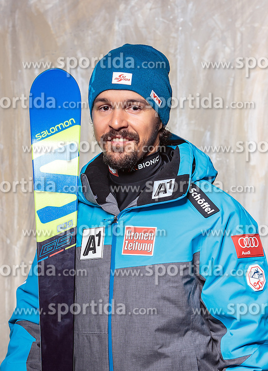 08.10.2016, Olympia Eisstadion, Innsbruck, AUT, OeSV Einkleidung Winterkollektion, Portraits 2016, im Bild Mario Schlattinger, Ski Alpin Herren // during the Outfitting of the Ski Austria Winter Collection and official Portrait Photoshooting at the Olympia Eisstadion in Innsbruck, Austria on 2016/10/08. EXPA Pictures © 2016, PhotoCredit: EXPA/ JFK