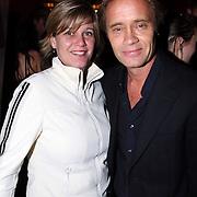 NLD/Amsterdam/20080207 - Presentatie nieuw blad genaamd M Magazine, Max Westerman en een vriendin