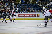 KELOWNA, CANADA - SEPTEMBER 28:  Game Play at the Kelowna Rockets game on September 28, 2016 at Prospera Place in Kelowna, British Columbia, Canada.  (Photo By Cindy Rogers/Nyasa Photography,  *** Local Caption ***