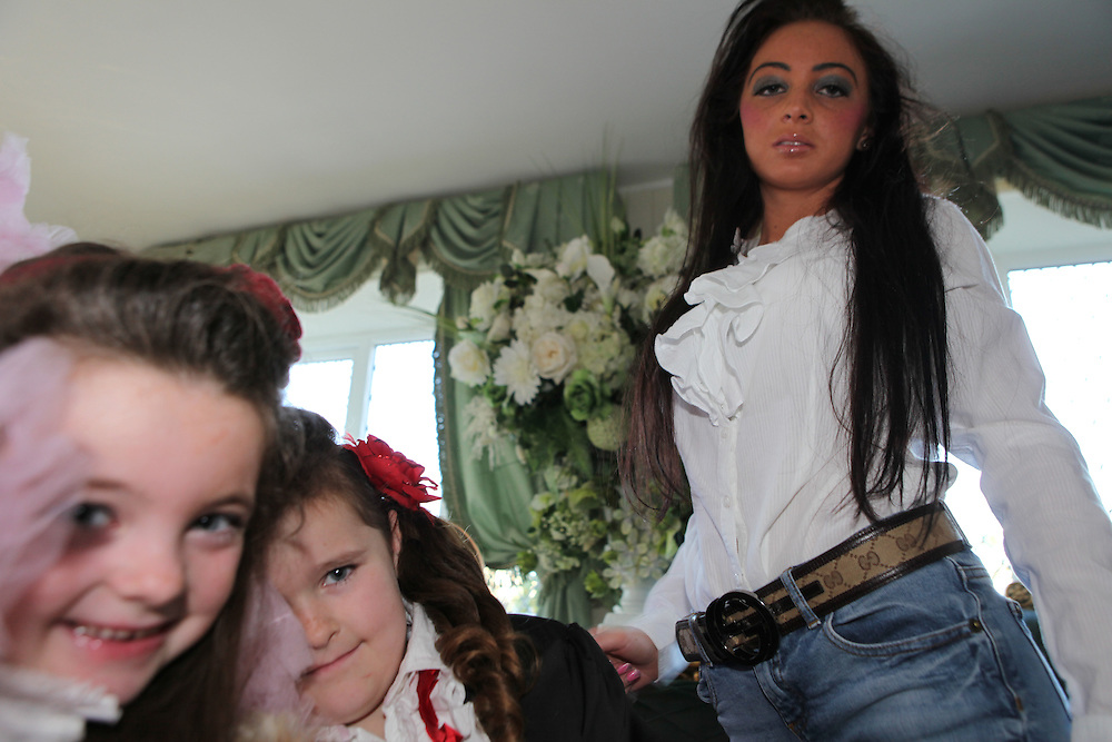 Santana Casey and her family in Potters Bar, January 2012