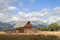 Barn on an old homestead in Grand Teton National Park