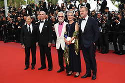 Stanley Kubricks daughter Katharina Kubrick, Stanley Kubricks producing partner and brother-in-law Jan Harlan, actor Keir Dullea, director Christopher Nolan and guest attend the screening of 2001: A Space Odyssey ahead of the Sink Or Swim (Le Grand Bain) Premiere during the 71st annual Cannes Film Festival at Palais des Festivals on May 13, 2018 in Cannes, France. Photo by Shootpix/ABACAPRESS.COM