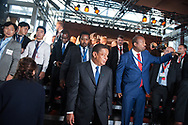 20.10.2018. Copenhagen, Denmark.  <br /> President of Ethiopia HE Mulatu Teshome waiting for a family picture during the P4G Copenhagen Summit 2018 at The Danish Radio Concert Hall.<br /> Photo: © Ricardo Ramirez