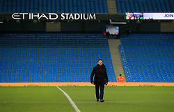Bristol City head coach Lee Johnson walks across the pitch at the Etihad Stadium  - Mandatory by-line: Matt McNulty/JMP - 09/01/2018 - FOOTBALL - Etihad Stadium - Manchester, England - Manchester City v Bristol City - Carabao Cup Semi-Final First Leg