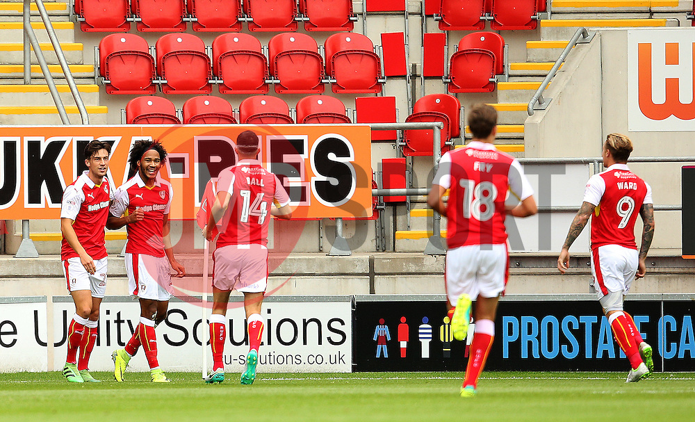 Isaiah Brown of Rotherham United celebrates after scoring his sides first goal  - Mandatory by-line: Matt McNulty/JMP - 10/09/2016 - FOOTBALL - Aesseal New York Stadium - Rotherham, England - Rotherham United v Bristol City - Sky Bet Championship