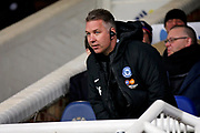 Peterborough Manager Darren Ferguson stakes his place in the stands before the EFL Sky Bet League 1 match between Peterborough United and Coventry City at London Road, Peterborough, England on 16 March 2019.