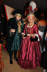 The DUKE & DUCHESS OF RICHMOND & GORDON at the 2004 Goodwood Revival ball this year theme was a Venetian Masked Ball, held at Goodwood Motor Racing circuit, West Sussex on 4t September 2004.