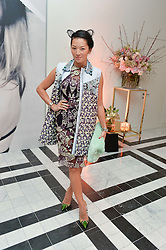 TINA LEUNG blogger at a dinner to celebrate the exclusive Capsule collection: Maison Michel by Karl Lagerfeld held at Selfridges, 400 Oxford Street, London on 23rd February 2015.
