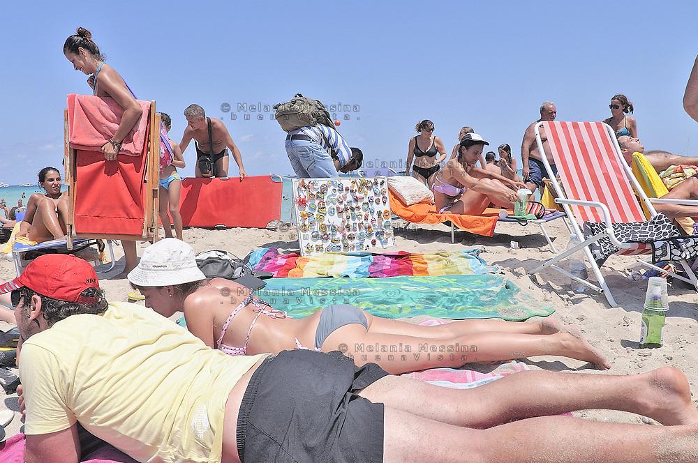 Palermo, Mondello beach during the summer.
