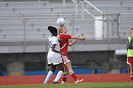 Oxford High's Frieda Salau vs. Lafayette High's Alley Houghton (3) in girls high school soccer in Oxford, Miss. on Saturday, December 8, 2012. Oxford won 1-0.