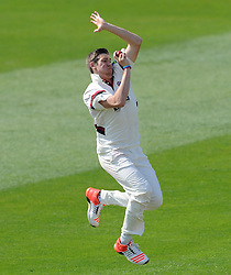 Somerset's Jamie Overton.  - Photo mandatory by-line: Harry Trump/JMP - Mobile: 07966 386802 - 08/04/15 - SPORT - CRICKET - Pre Season - Somerset v Lancashire - Day 2 - The County Ground, Taunton, England.