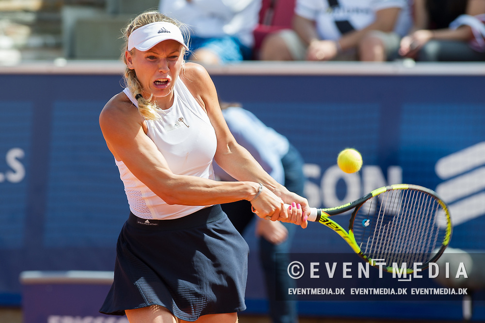 Caroline Wozniacki (Denmark) at the 2017 WTA Ericsson Open in Båstad, Sweden, July 28, 2017. Photo Credit: Katja Boll/EVENTMEDIA.
