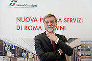 Graziano Delrio, Minister of Infrastructure, during the presentation of the new services plate.<br /> Presented the new services plate to Rome's Termini railway station, new surfaces for 6,500 square meters. Of which 4,550 dedicated to food &amp; beverage and logistics. Approximately 870 tons of steel and 1,000 cubic meters of concrete. For a total investment of 125 million euro. Rome, Italy. 23th February  2016