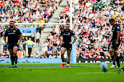 Sam Simmonds of Exeter Chiefs looks dejected after the final whistle of the match - Mandatory by-line: Ryan Hiscott/JMP - 01/06/2019 - RUGBY - Twickenham Stadium - London, England - Exeter Chiefs v Saracens - Gallagher Premiership Rugby Final
