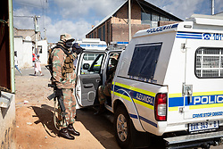 JOHANNESBURG, April 17, 2020  Military and police personnel are on duty in Johannesburg, South Africa, April 16, 2020..  South Africa's COVID-19 deaths jumped by 14 in 24 hours as the novel coronavirus sickened 99 more people, Health Minister Zweli Mkhize said on Thursday. .  The total number of COVID-19 cases in the country has reached 2,605, the minister said. (Photo by YeshielXinhua) (Credit Image: © Xinhua via ZUMA Wire)