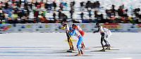 Langrenn<br /> Davos Sveits<br /> 11.12.2011<br /> Foto: Gepa/Digitalsport<br /> NORWAY ONLY<br /> <br /> FIS Weltcup, 1,5km Sprint der Herren, Freistil. Bild zeigt ein Feature mit Josef Wenzl (GER), Pål Golberg (NOR), Federico Pellegrino (ITA), Johan Edin (SWE) und Andrew Newell (USA).