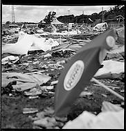 Roskilde, Denmark. July 2007.  Debris from the week-long Roskilde music festival in Denmark.
