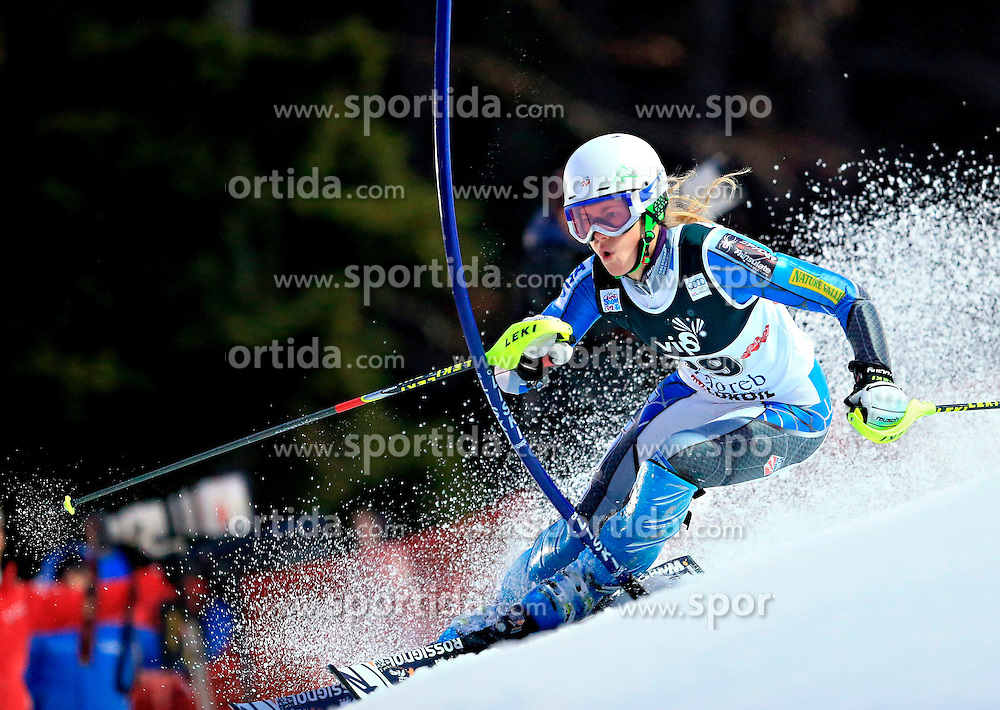 04.01.2013, Crveni Spust, Zagreb, AUT, FIS Ski Alpin Weltcup, Slalom, Damen, 1. Lauf, im Bild Resi Stiegler (USA) // Resi Stiegler of the USA in action during 1st Run of the ladies Slalom of the FIS ski alpine world cup at Crveni Spust course in Zagreb, Croatia on 2013/01/04. EXPA Pictures © 2013, PhotoCredit: EXPA/ Pixsell/ Slavko Midzor..***** ATTENTION - for AUT, SLO, SUI, ITA, FRA only *****