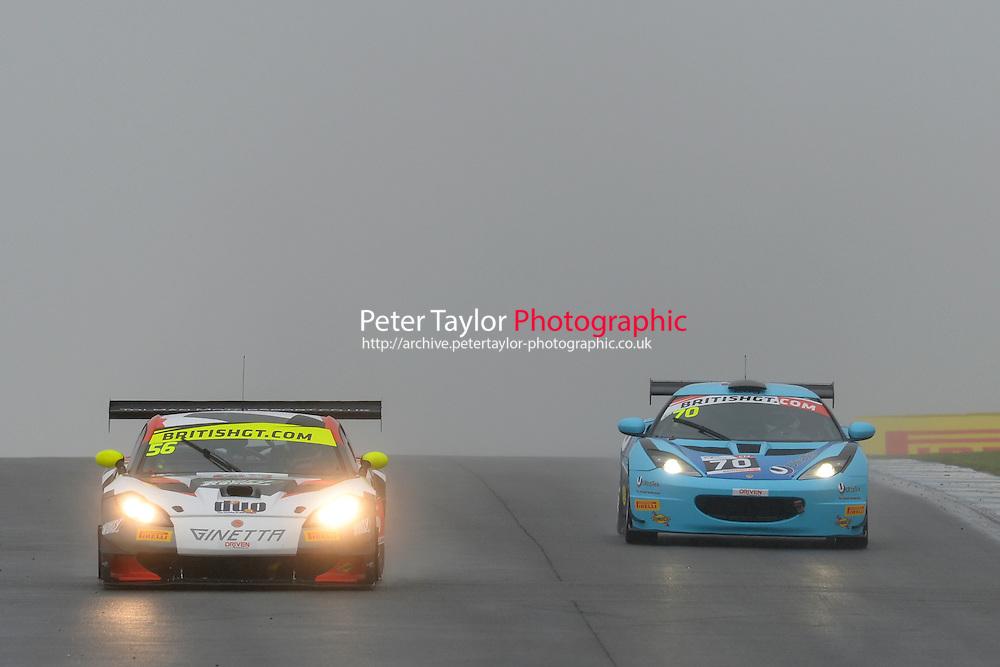 David Pattison (GBR) / Luke Davenport (GBR)  #56 Tolman Motorsport  Ginetta G55 GT3  Ginetta 4.3L V8. British GT Championship at Donington Park, Melbourne, Leicestershire, United Kingdom. September 10 2016. World Copyright Peter Taylor/PSP.