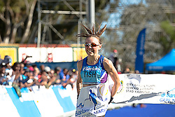 Tish Jones during the 2016 Sanlam Cape Town marathon held in Cape Town, South Africa on the 18th September  2016<br /> <br /> Photo by: John Tee / RealTime Images