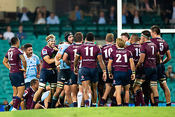 March 9, 2019 - Sydney, NSW, U.S. - SYDNEY, NSW - MARCH 09: A fight breaks out at round 4 of Super Rugby between NSW Waratahs and Queensland Reds on March 09, 2019 at The Sydney Cricket Ground, NSW. (Photo by Speed Media/Icon Sportswire) (Credit Image: © Speed Media/Icon SMI via ZUMA Press)