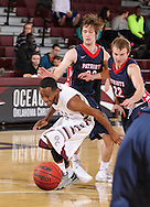 February 20, 2014: The Dallas Baptist University Patriots play against the Oklahoma Christian University Eagles in the Eagles Nest on the campus of Oklahoma Christian University.