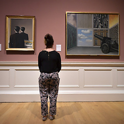 Not to be Reproduced, Ren&eacute; Magritte, On the threshold of Liberty, Ren&eacute; Magritte, Scottish National Gallery of Modern Art  (Modern One) Surreal Encounters Collection, Edinburgh, 2nd June 2016, <br /> (c) Brian Anderson   Edinburgh Elite media