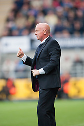 Falkirk's manager Peter Houston. Falkirk 0 v 2 Rangers, Scottish Championship game played 15/8/2014 at The Falkirk Stadium.