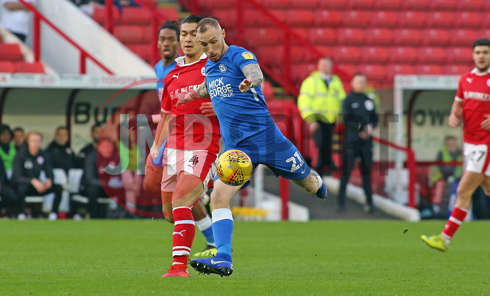 Marcus Maddison of Peterborough United shoots at goal against Barnsley - Mandatory by-line: Joe Dent/JMP - 26/12/2018 - FOOTBALL - Oakwell Stadium - Barnsley, England - Barnsley v Peterborough United - Sky Bet League One