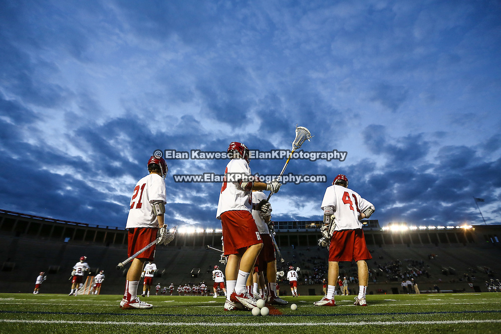 Harvard University men's lacrosse vs. Yale University in the Ivy League Tournament Semifinal at Harvard Stadium on May 2, 2014 in Boston, Massachusetts. (Photo by Elan Kawesch/Harvard Universtiy)
