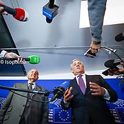 Antonio TAJANI, EP President meets with Paolo SAVONA, Italian Minister of european Affairs<br /> ----<br /> @dainalelardic @isopixbelgium @europeanparliament @ep_president @AntonioTajani #picoftheday #photooftheday #europe #parlementeuropeen #politics #europeanunion #strasbourg #france #presspoint #PaoloSavona #mike #microphone