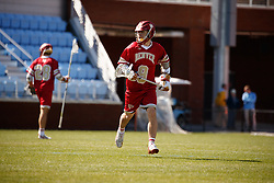 CHAPEL HILL, NC - MARCH 02: Alex Simmons #09 of the Denver Pioneers during a game against the North Carolina Tar Heels on March 02, 2019 at the UNC Lacrosse and Soccer Stadium in Chapel Hill, North Carolina. Denver won 12-10. (Photo by Peyton Williams/US Lacrosse)