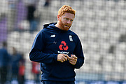 Jonny Bairstow of England warming up before the first day of the 4th SpecSavers International Test Match 2018 match between England and India at the Ageas Bowl, Southampton, United Kingdom on 30 August 2018.