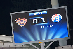 Final score during Play-offs for Champions League between NK Maribor (Slovenia) and GNK Dinamo Zagreb (Croatia), on August 28, 2012, in Maribor, Slovenia. (Photo by Matic Klansek Velej / Sportida.com)