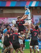 Gloucester, Great Britain, Puma, Matias ALEMANNO, hands in the face of, Giorgi NEMSADZE,     during the Argentina vs Georgia, Pool C. game. 2015 Rugby World Cup, Venue. Kingsholm Stadium. England, Friday - 25/09/2015 <br /> [Mandatory Credit; Peter Spurrier/Intersport-images]